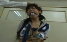 Tied Japanese Girl Gets Punished