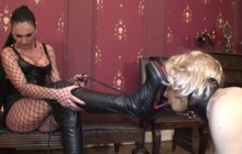 Sissy man dominated by a sexy and scary mistress