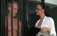 Big tit mistress treats him right