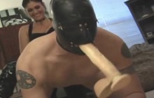Sissy Boy Bends Over And Gets Strapon