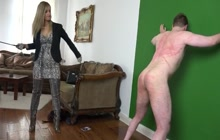 Mistress whipping her slave