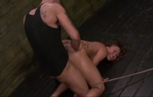 Mena Li endures hard fetish sex