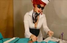 Mistress giving a mean handjob