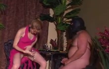 Slave drinks hot piss from mistress